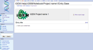 Go to and copy the iGEM lab notebook entry template