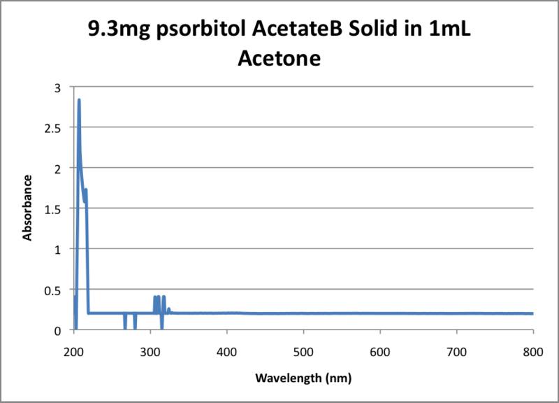 File:9.3mg psorbitol AcetateB Solid in 1mL Acetone.png