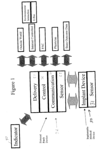Device schematic https://patents.google.com/patent/US20050182389A1/en?q=implantable=drug+delivery+system &q=A61M5%2f168&q=A61M2205%2f35