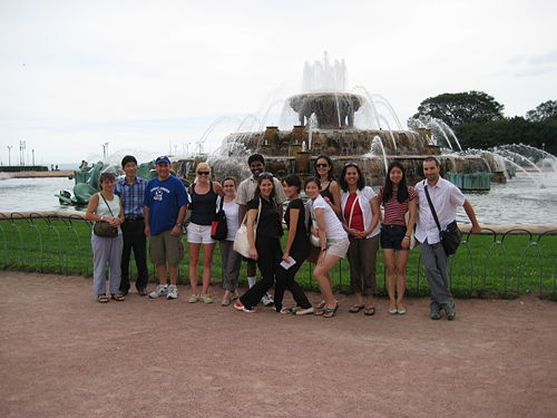 lab day, Buckingham fountain
