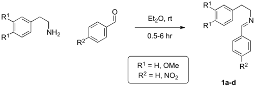 Scheme 5: Synthesis of the substrates for the Pictet-Spengler model.