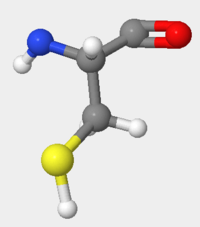 Figure 1.Image of isolated amino acid, Cysteine, as part of the hOGG1 protein. The sulfur atom is pictured in yellow.