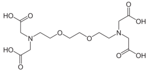 chemical structure of EDTA - ethylene-glycol-tetraacetic acid