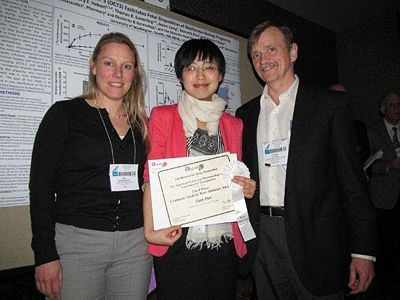 April 2013 (Xian getting the poster award at EB)
