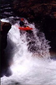 ~2002, paddling the Lower McCloud ~Mt.Shasta, CA