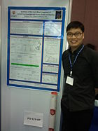 Mingfeng presenting his poster at the 14th Asian Chemical Congress, Sept 2011