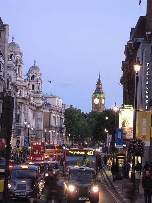 London at Night Trafalgar Sq.JPG