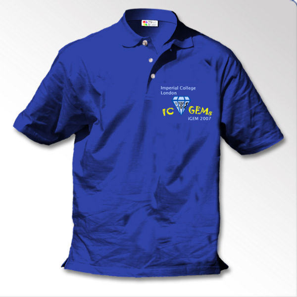 IC GEMs front view of polo shirt