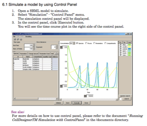 CellDesigner Simulation Panel