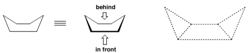 Scheme 7: Cyclohexane's Boat Conformation