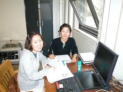 Su Young Park and Jung Eun Park, former Master's students