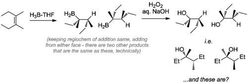 Scheme 7: Worked Example of the Stereochemical Outcome of a Hydroboration Reaction