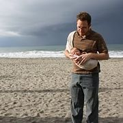 David LeBauer and son Emil enjoy the beach in Oceanside, Februray 6, 2009