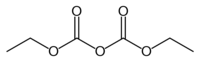 chemical structure of diethyl pyrocarbonate (DEPC)