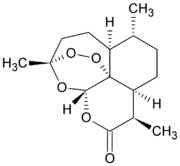 Chemical Structure of Artemisinin. Image from Wikipedia Commons.