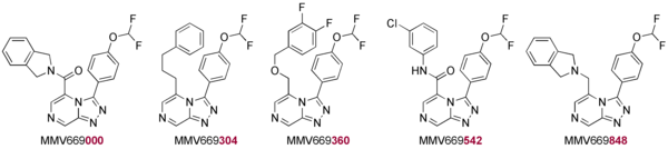 The Five Compounds Initially Evaluated for Possible PfATP4 Activity
