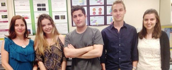 Melanie Berkmen with research assistants Artemisa Bulku, Omar Pinkhasov, Matt Broulidakis, and Naira Aleksanyan.