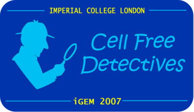 Cell Free Detectives - Sherlock Holmes theme in logo v2