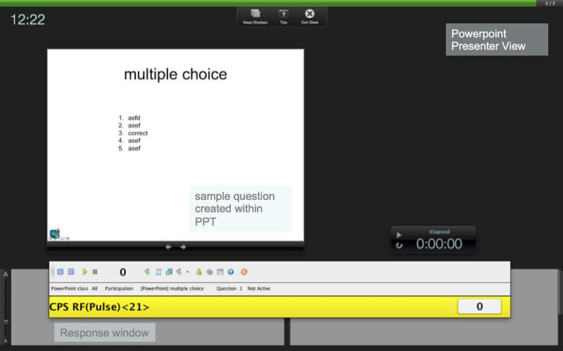 Image:Clicker Response in PPT Presenter View.jpg