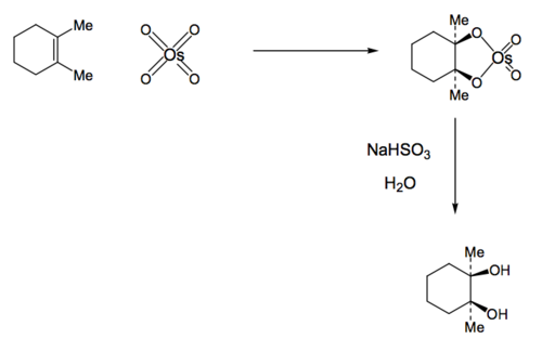 Scheme 10: Osmium Tetroxide Mediated Dihydroxylation of an Alkene