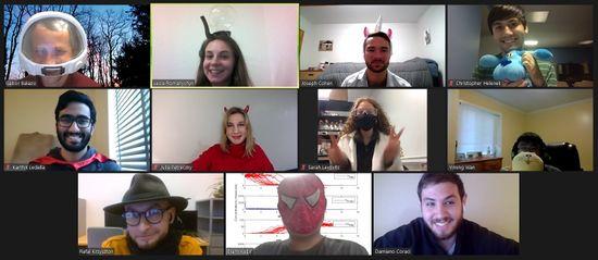 Online Halloween party, 2020