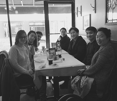 March 2016 (From the left: Becca, Miaoran, Ashu, Young, Sungjoon, Chengxiang, and Kun)