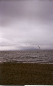 ~2002, winter kiteboarding ~Alameda, CA
