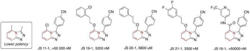 Modification of Core Pyrazine, Replacing with a Pyridine