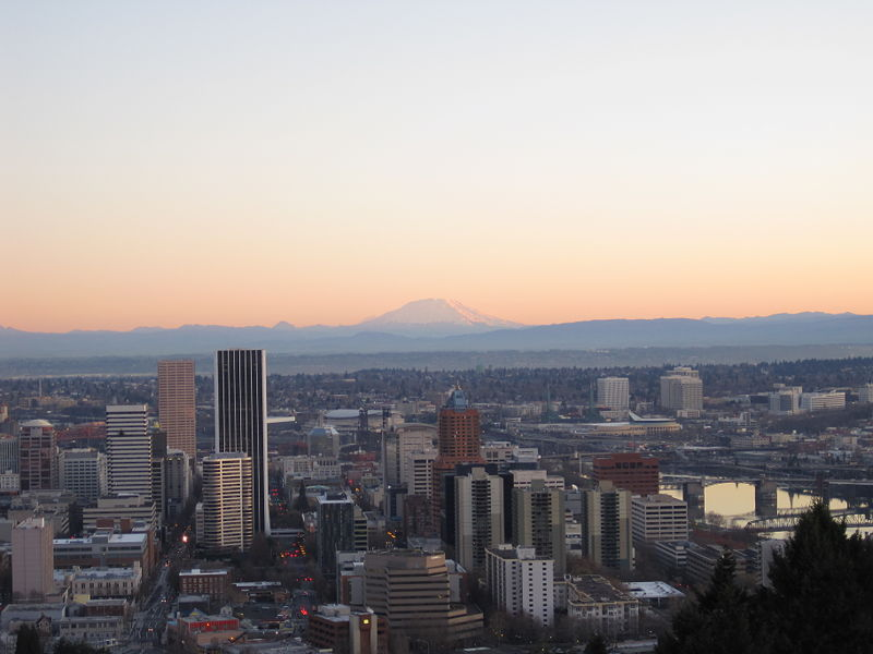 File:Overlooking Downtown PDX and St Helens.JPG