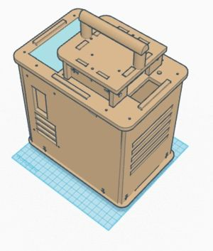 This isometric view shows the new improved handle attachment as well as the larger display screen
