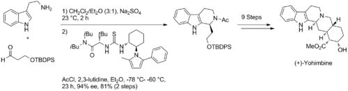 Scheme: (Jacobsen 2008). Total Synthesis of (+)-Yohimbine