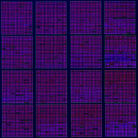 Figure 1. Segmented image of a microarray scanning. SPOT output..