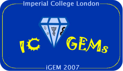 IC GEMs with blue background and frame