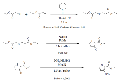 Proposed synthesis for the above compound
