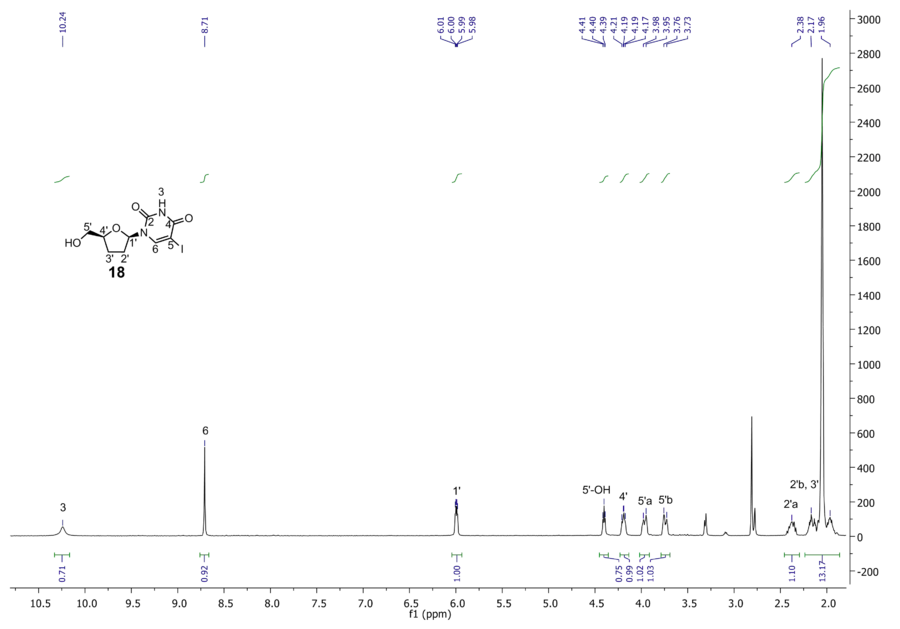 1H NMR of compound 18