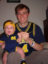 A Michigan fan from birth!