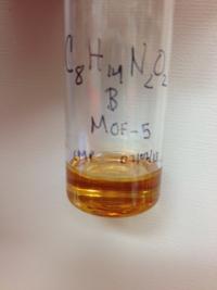 MOF-5 & 1-ethyl-3-methylimidazolium-acetate