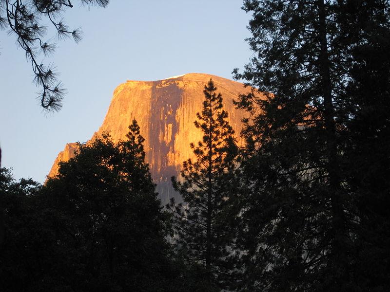 File:Yosemite Half Dome Alpenglow.JPG