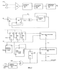 """A """"circuit diagram of the data communications interface"""" for the implantable device https://patents.google.com/patent/US6689117B2/en?q=implantable=drug+delivery+system"""