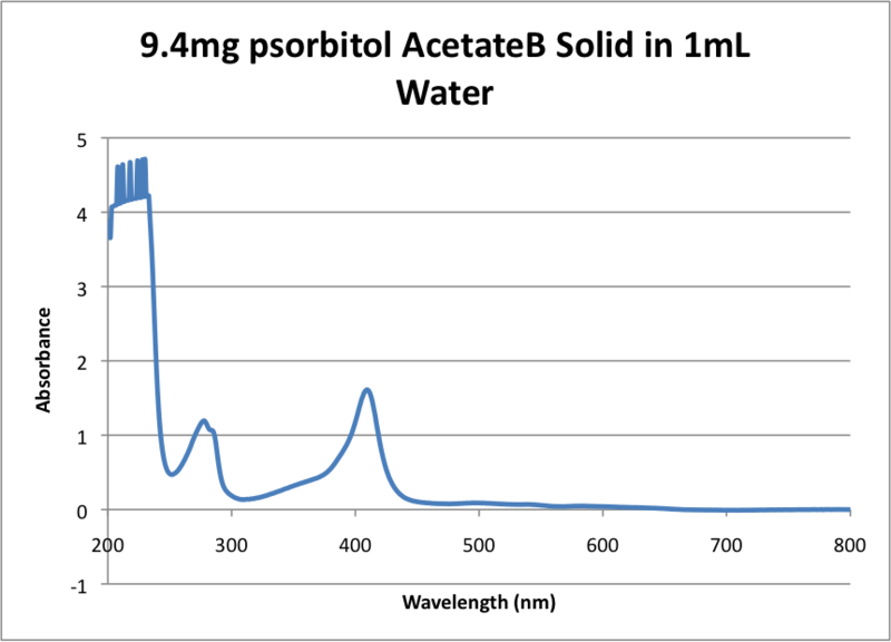 Image:9.4mg psorbitol AcetateB Solid in 1mL Water .png