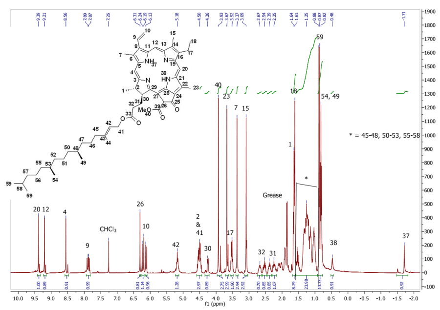 1H NMR of compound 7