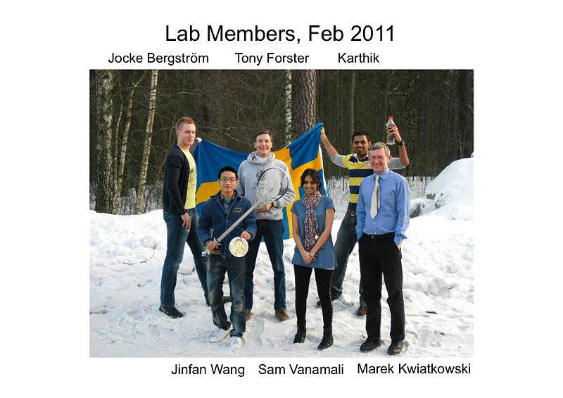 Forster lab members 2011.jpg