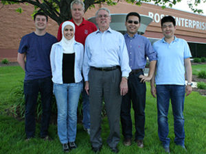 Byrn Lab - May 2015 (l to r): Curtis Hajec, Ruba Alajlouni, Dr. Daniel Smith, Dr. Stephen Byrn, Haichen Nie, Yang Song