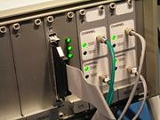 NIRS 4x4 System Detectors (with optical fibers plugged in)