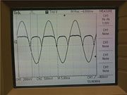 THE PICTURE OUTPUT OF OUR OSCILLOSCOPE