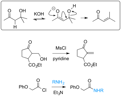Scheme 12: The E1cb Reaction Mechanism in Action