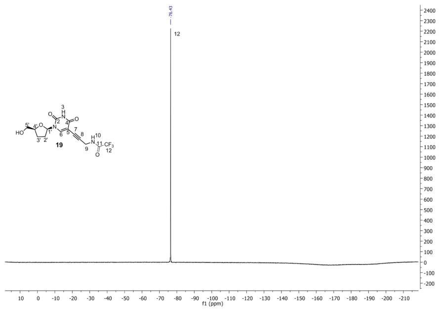 19F NMR of compound 19