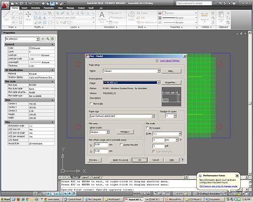 Print options screen