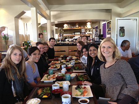 Group lunch at Kirala. From left to right: Camille, Kathleen, Heather, Florence, Eric, Edison, Michela, Lara, Aindrila and Amanda (we're missing Zain and Marij)