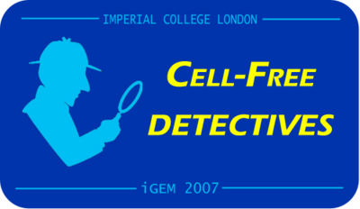 Cell Free Detectives - Sherlock Holmes theme in logo v1